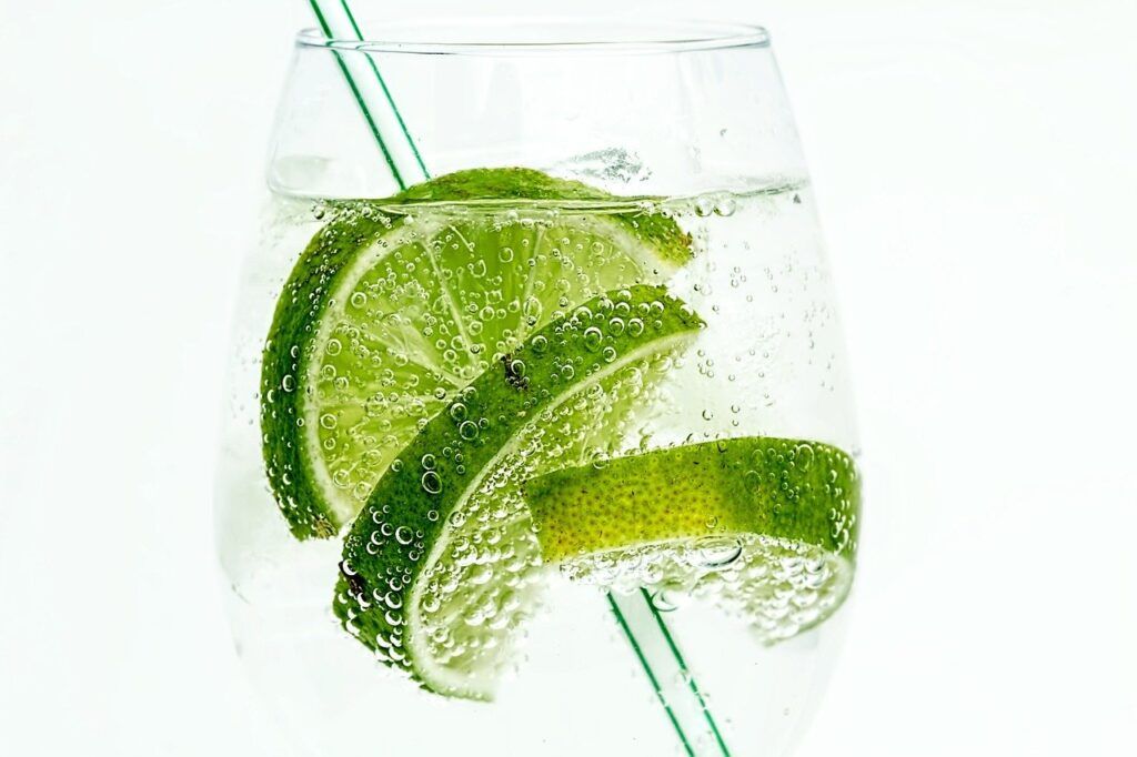 lime, drink, glass